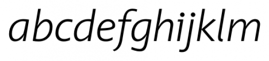 Unita LightItalic Font LOWERCASE
