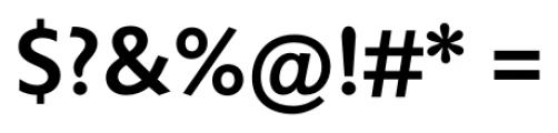 Unita Medium Font OTHER CHARS