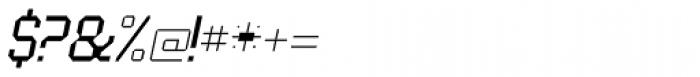 UNDA Angle Fine Italic Regular Font OTHER CHARS