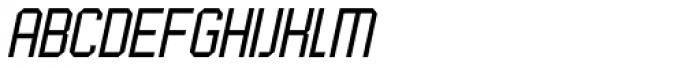 UNDA Angle Fine Italic Regular Font UPPERCASE
