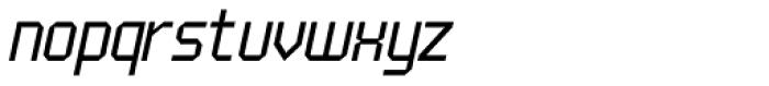 UNDA Angle Fine Italic Regular Font LOWERCASE