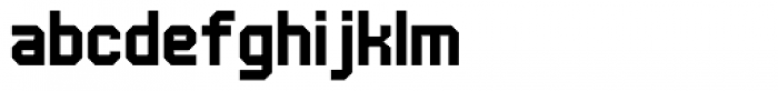 UNDA Angle Regular Font LOWERCASE