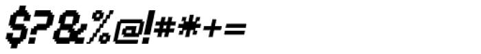 UNDA Bitmap Italic Regular Font OTHER CHARS