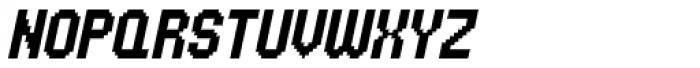 UNDA Bitmap Italic Regular Font UPPERCASE