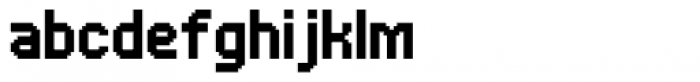 UNDA Bitmap Font LOWERCASE