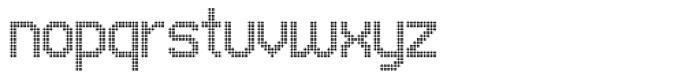 UNDA Circle Fine Font LOWERCASE