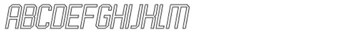 UNDA Outline Fine Italic Font UPPERCASE