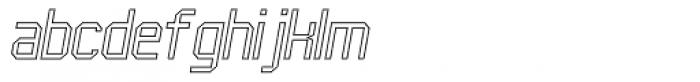 UNDA Outline Fine Italic Font LOWERCASE