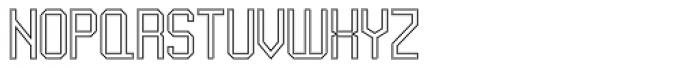 UNDA Outline Fine Font UPPERCASE