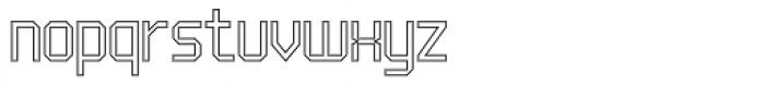 UNDA Outline Fine Font LOWERCASE