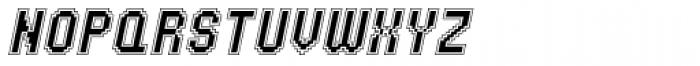 UNDA Outline Italic Regular Font UPPERCASE