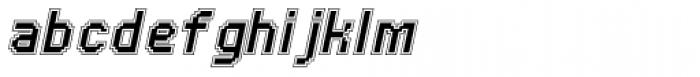 UNDA Outline Italic Regular Font LOWERCASE