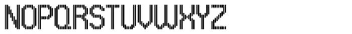 UNDA Vertical Fine Font UPPERCASE