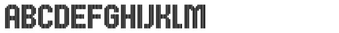 UNDA Vertical Font UPPERCASE
