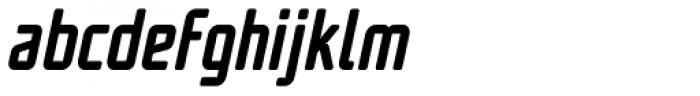 UNicod Sans Condensed Medium Italic Font LOWERCASE
