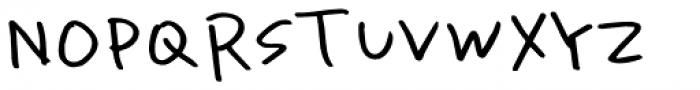 Uncertain Felttip Font UPPERCASE