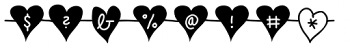 Unchain My Heart Chained Font OTHER CHARS