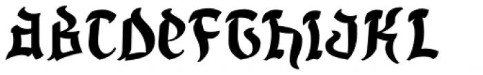 Uncia Black Font UPPERCASE