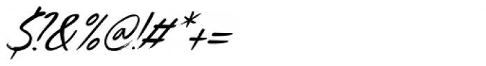 Uncle Edward Extra Italic Font OTHER CHARS