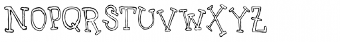 Uncle Lee Outline Font LOWERCASE