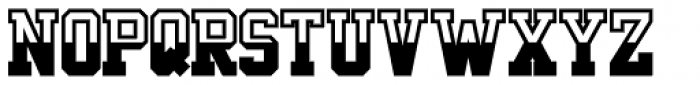 Undergrad Half Full Bold Font LOWERCASE
