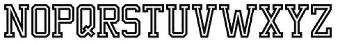 Undergrad Thin Outline Font UPPERCASE