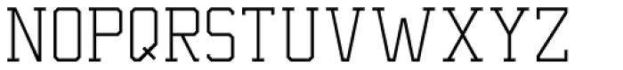 Undergrad UltraThin Font LOWERCASE
