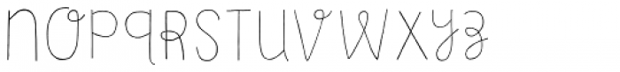 Undersong Line Font LOWERCASE