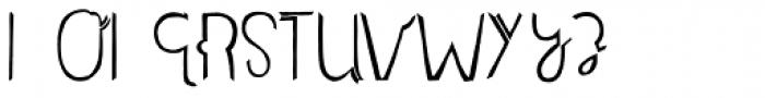 Undersong Split1 Font LOWERCASE
