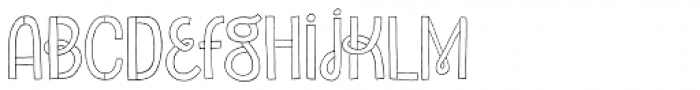 Undersong Font LOWERCASE