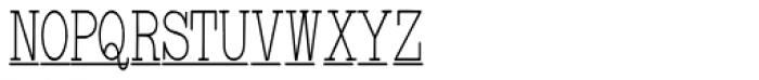 Underwood Typewriter Underscore Font UPPERCASE
