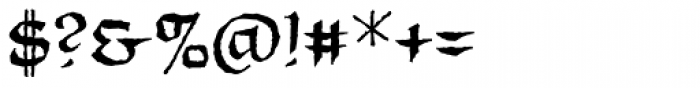 Unearthed BB Font OTHER CHARS