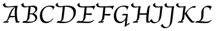 Unger Chancery Font UPPERCASE