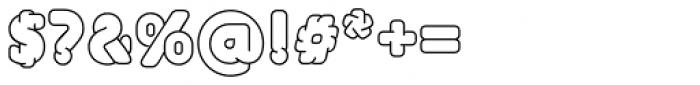UniFont Fat White Font OTHER CHARS