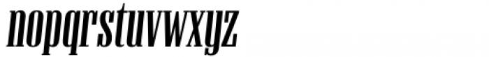 Unicorn Display Slanted Font LOWERCASE