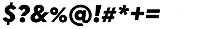 Uniform Italic Black Italic Font OTHER CHARS