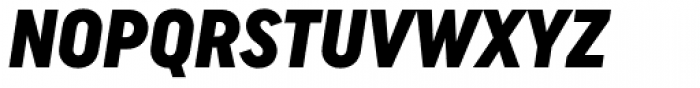 Uniform Italic Cond Black Italic Font UPPERCASE