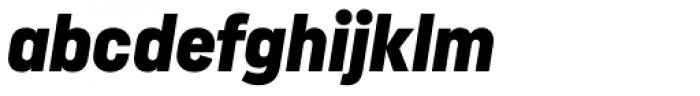 Uniform Italic Cond Black Italic Font LOWERCASE