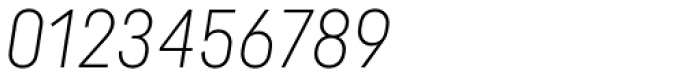 Uniform Italic Cond Light Italic Font OTHER CHARS