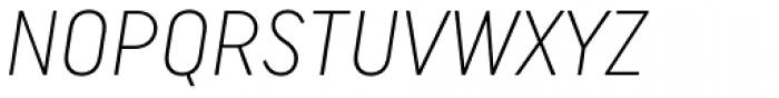 Uniform Italic Cond Light Italic Font UPPERCASE