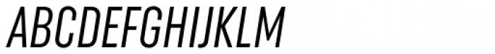 Uniform Italic ExtraCond Italic Font UPPERCASE