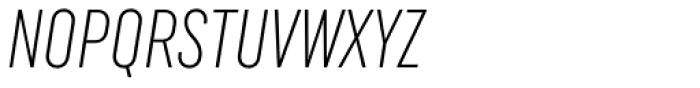 Uniform Italic ExtraCond Light Italic Font UPPERCASE
