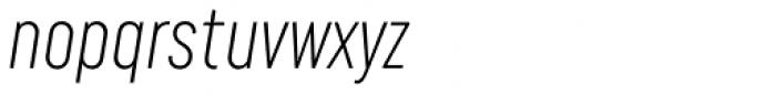 Uniform Italic ExtraCond Light Italic Font LOWERCASE