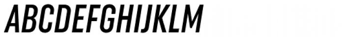 Uniform Italic ExtraCond Medium Italic Font UPPERCASE