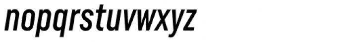Uniform Italic ExtraCond Medium Italic Font LOWERCASE