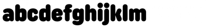 Uniform Rounded Condensed Ultra Font LOWERCASE