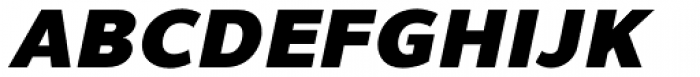 Uniman Black Italic Font UPPERCASE
