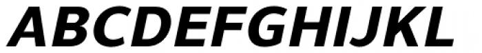 Uniman ExtraBold Italic Font UPPERCASE