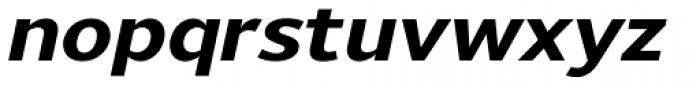 Uniman ExtraBold Italic Font LOWERCASE