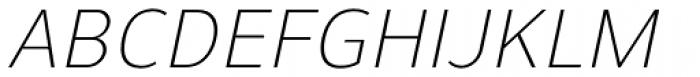 Uniman Light Italic Font UPPERCASE
